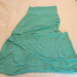 Aqua maxi skirt